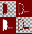 people speaking or singing sign bordo and vector image vector image