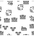 postal transportation company seamless pattern vector image