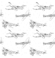Propeller airplanes seamless pattern vector image vector image