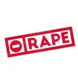 Rape rubber stamp vector image