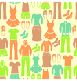 Seamless retro pattern with clothing vector image vector image