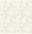 seashell seamless pattern vector image vector image