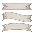 set of old vintage ribbon banners vector image