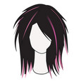 silhouette of a female hairdress with multi vector image