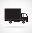 simple short small transport truck silhouette vector image