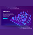 site with 3d isometric ultraviolet vector image vector image
