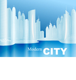 sketch a modern city vector image