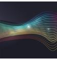 Smoke wave on dark background vector image vector image