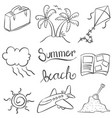 summer of doodles for kids vector image
