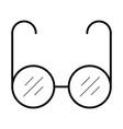 sun glasses icon vector image vector image