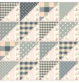 The patchwork quilt in shabby chic style from