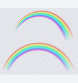 transparent colored rainbow arc a circle vector image vector image