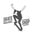 vintage biking and skating badge logotype vector image vector image
