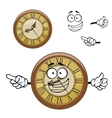 Vintage isolated clock cartoon character vector image vector image