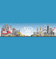 welcome to italy skyline with gray buildings and vector image vector image