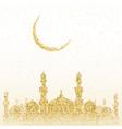 ramadan kareem greeting with golden mosque vector image
