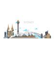 sydney city panorama australia travel vector image