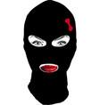 girl bandit vector image