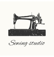 sewing studio emblem vector image