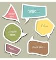 Speech bubble cut paper design template vector image
