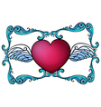 A heart decor vector image