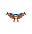 American Eagle Swooping USA Flag Retro vector image vector image