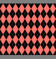 argyle plaid in live coral colors scottish cage vector image