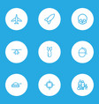 army outline icons set collection of target vector image vector image