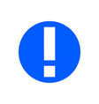 attention glyph icon vector image