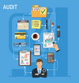auditing and business accounting infographics vector image
