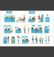 bank service professionals and clients different vector image