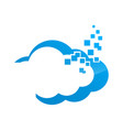 blue cloud symbol big data cloud logobig cloud vector image