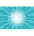 Blue pop art retro background with exploding rays vector image vector image