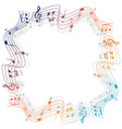 border template with colorful musicnotes vector image vector image