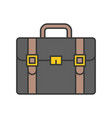 briefcase icon business and education concept vector image vector image