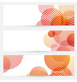 Business cards collection - circle retro pattern vector image vector image
