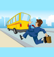 businessman late for work vector image vector image