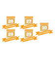 calendar with ribbon set vector image vector image