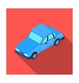 Car icon in flat style isolated on white vector image vector image