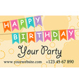 card your party with gifts balloons ice cream and vector image vector image