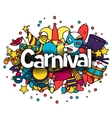 carnival show background with doodle icons
