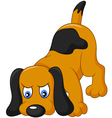 Cartoon dog sniffing vector image