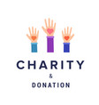 charity and donation banner template vector image