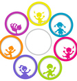Circle frame with children and place for your text vector image vector image