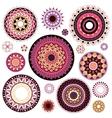 Circled ornaments set vector image vector image