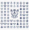 classic style emblems big set ancient heraldic