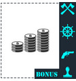 coins icon flat vector image vector image