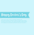 collection stock card for world doctor day vector image vector image