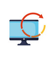 computer refresh arrow on white background vector image