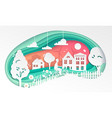 country landscape - modern paper cut vector image vector image